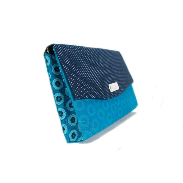 Blue Letoitsi Box Clutch