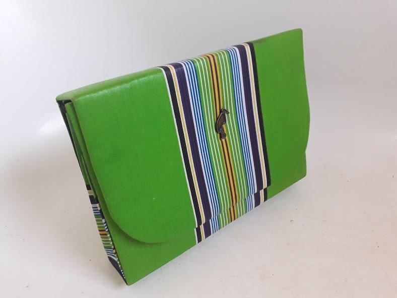 Green Venda Clutch Bag African Print