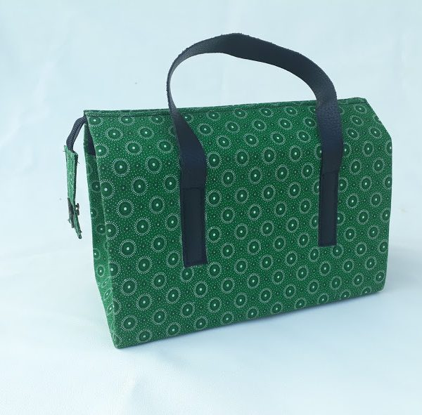 green rectangular bag