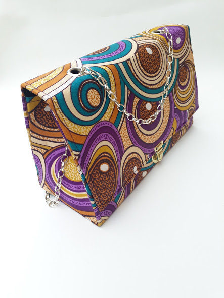 Purple bag african print