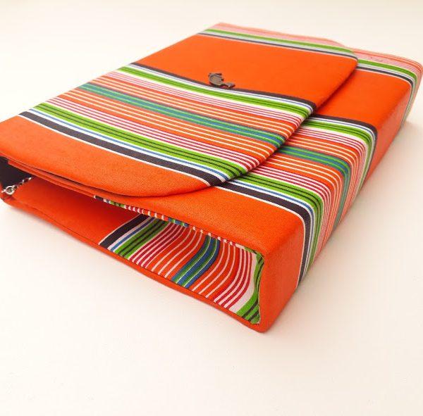 Orange Venda Clutch Bag African Print