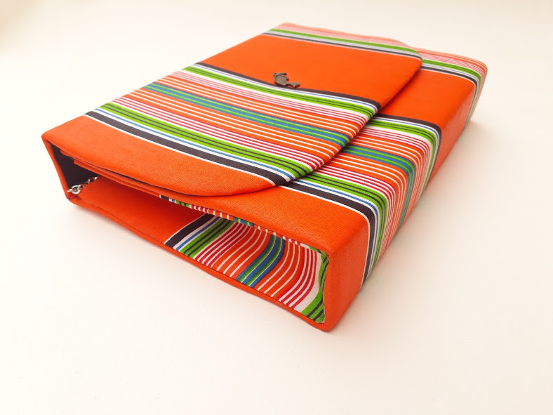 Orange Venda Clutch Bag African Print