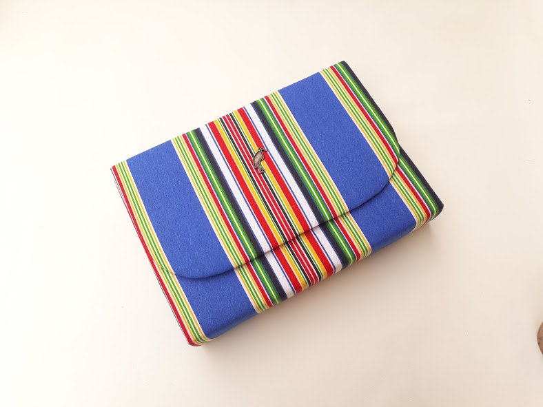 Blue Venda Clutch Bag African Print